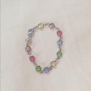 Swarovski multicolored crystal bracelet